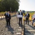 Minister und Bürgermeister begrüßen die erste Fahrt der NordWestBahn nach Kamp-Lintfort
